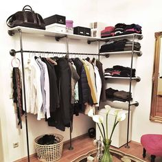 IDEEN walk-in-closet-diy-furniture-self-build.jpg Teak Outdoor Furniture – The Ultimate Way To Furni Furniture Making, Diy Furniture, Furniture Design, Walk In Wardrobe, Wardrobe Rack, Industrial Design Furniture, Smart Storage, Diy Garden Decor, My New Room