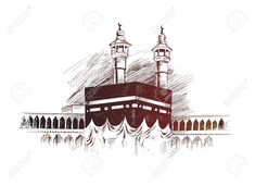 Holy Kaaba in Mecca Saudi Arabia, Hand Drawn Sketch Vector illustration. - Holy Kaaba in Mecca Saudi Arabia, Hand Drawn Sketch Vector illustration. Mecca Wallpaper, Islamic Wallpaper, Photos Islamiques, Stock Photos, Mecca Kaaba, Islamic Posters, Arabic Calligraphy Art, Calligraphy Alphabet, Islamic Art Pattern