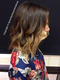 Short hair balayage ombre   Ombre, balayage ombre, color melt, sombre, bob haircut, beach waves, short hair hairstyles, hair color, fall hair color