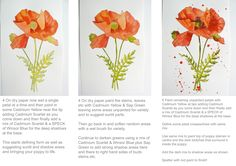 Beautiful Poppy Watercolor Tutorial by my friend Alison from Eastwitching. She is such a talented artist!! (http://eastwitching.com/) @Eastwitching Art