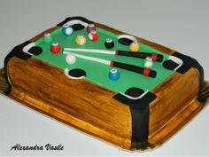 Pool table cake  http://alexandravasile.ro/