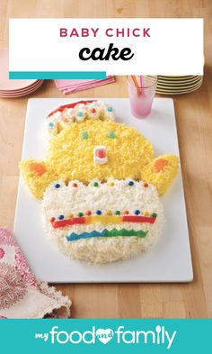 Baby Chick Cake – Start a new Easter tradition by making this creative cake design! Yellow cake mix and pudding mix combine to create the base for this sweet treat. With colored coconut, marshmallows, and candies used for decorations, this recipe is sure to give you some unique ideas!