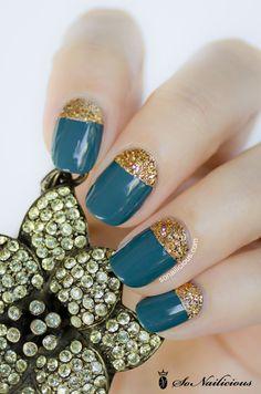 Half moon nails #nailart