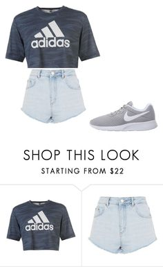 """uhhhh"" by arod9230 on Polyvore featuring adidas, Topshop and NIKE"