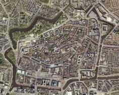 Medieval Dutch Cities With Walls - Leeuwarden Urban Mapping, Walled City, Fortification, View Map, Birds Eye View, Urban Planning, Aerial Photography, Aerial View, Where To Go