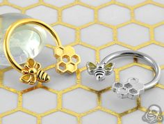 Bee and honeycomb circular barbell