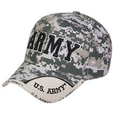 b32f3b45250f8 U.S. Honor Army Text Digital Camo Cap