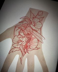 Ideas Drawing Tattoo Sketches Artworks For 2019 Diy Tattoo, Wasp Tattoo, Tattoo Neck, Sketch Tattoo Design, Tattoo Sketches, Tattoo Drawings, Tattoo Designs, Tattoo Illustrations, Art Sketches