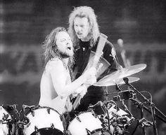 Lars Ulrich and James Hetfield 1993