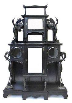 Aesthetic Movement Carved and Ebonized Mirrored Etagere Kimbel Cabus C 1870 | eBay