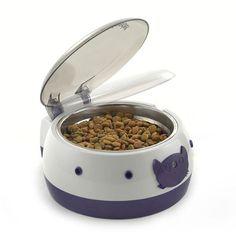 Ergo Systems Auto Open Pet Bowl - http://www.thepuppy.org/ergo-systems-auto-open-pet-bowl/