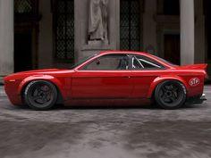 Foguete coelho Widebody Kit Transforma 90 de Nissan 240SX Em 70 de Plymouth Barracuda