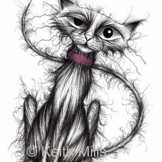 Happy Animals, Cat Drawing, Halloween Art, Crazy Cats, Cat Art, Animal Pictures, Fantasy Art, Sketches, Drawings