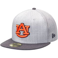 online retailer 5ab77 b7967 Auburn Tigers New Era Heather Action 2-Tone 59FIFTY Fitted Hat - Gray  Graphite