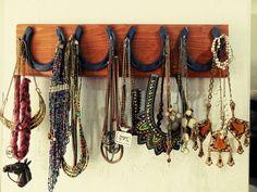 Horse shoe jewelery storage #horselovers #cowgirl
