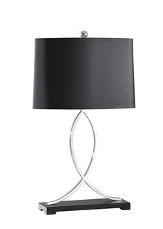 @MurrayFeiss Polished Nickel Table Lamp. www.angersteins.com #lighting