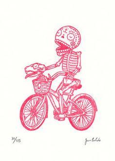 Bicycle Calavera Gocco Print | Flickr - Photo Sharing!