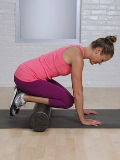 This self-massaging technique loosens stiff muscles and helps keep fascia (connective tissue in muscles) loose. Foam rolling, along with stretching and cross training, can help prevent repetitive stress injures that could disrupt training. You'll feel a big difference in your body once this becomes a regular practice!