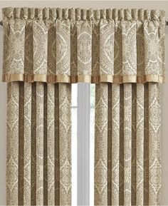 Dress up your windows with the sophisticated style of J. Queen New York's Sardinia Rod Pocket Window Valance. With a gorgeous traditional jacquard pattern in a luxurious gold color, this accent adds the right amount of elegance to your space. Space Furniture, Plywood Furniture, Modern Furniture, Furniture Design, Queen News, Queens New York, Drapes Curtains, Window Valances, Luxury Curtains