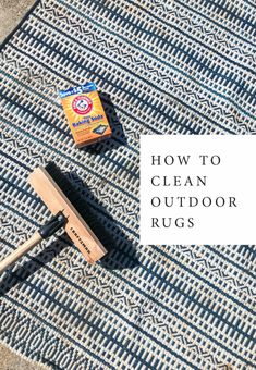 How to clean outdoor rugs | In Honor of Design