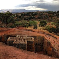 Church of St. George in Lalibela.