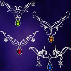 seasons jewelry by Darla-Illara.deviantart.com on @DeviantArt