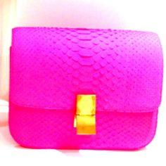 celine hot pink python purse (found via snapette)