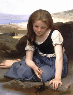 The crab William-Adolphe Bouguereau 1869  Those skin tones.