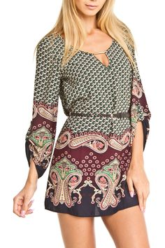 Olive Tree Mira Dress in Green - Beyond the Rack