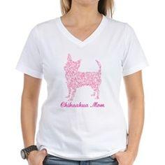 Pink Chihuahua Mom T-Shirt