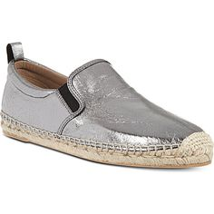 MARC BY MARC JACOBS Espadrille metallic slip-on shoes (Gunmetal