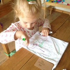 A lovely review from Victoria of Lylia Rose, and here's her little girl decorating her fabric bag! *PLUS there's a twitter giveaway!*