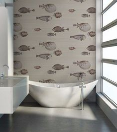 Fornasetti II Collection 'Acquario' by Cole & Son is an amazing imported decorative wallpaper, that will create an unique feature in your home The fish theme appears in some of the earliest Fornasetti Wallpaper For Sale, Cole And Son Wallpaper, Fish Wallpaper, Wallpaper Decor, Fornasetti Wallpaper, Wallpaper Online, Animal Wallpaper, Cloakroom Wallpaper, Designers Guild