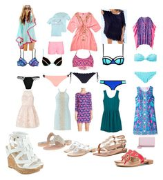 """""""A week of vacation"""" by amypavon on Polyvore featuring Victoria's Secret, River Island, Forever 21, Amenapih, Orlebar Brown, Lilly Pulitzer, Lipsy, MANGO, Jack Rogers and GUESS"""