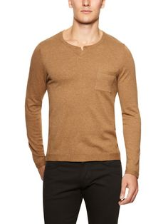 Essential Notched Collar Sweater by TOPMAN on Gilt.com