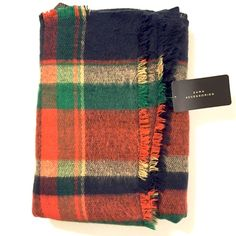 ❗️FINAL PRICE❗️NWT Zara Plaid Blanket Scarf Brand new with tags authentic Zara plaid blanket scarf. Model photo credit Zara, all others are photos of actual scarf. Super warm and cozy, perfect for fall and winter. Bundle up in style! ❌No trades❌Price has been reduced to the lowest unless bundled. Zara Accessories Scarves & Wraps