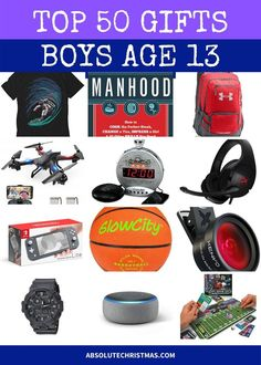 Wondering what to buy a 13 year old boy for his birthday or Christmas this year? See our list of cool gift ideas 13 year old will totally dig! Tween Gifts, Gifts For Teens, Kids Gifts, Best Gifts For Boys, Presents For Boys, 13 Year Old Christmas Gifts, Christmas Decor, Teenage Boy Birthday, Nephew Gifts