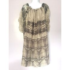{Zara} Silk Animal Print Dress NWT. Snake skin silk dress. Zara Dresses Midi