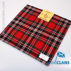 MacFarlane Tartan Pocket Square. Free Worldwide Shipping Available