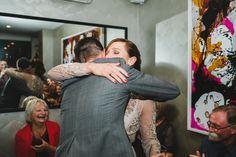 Hugging the Bride.