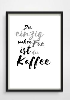 "Druck Print - Druck Print ""Fee Kaffee"" – Digitaldruck – Drucke – Mit Liebe handgemacht in berlin, Deutschland von PAP-SELIGKEITEN – Poster, Drucke, Postkarten Coffee Mug Quotes, Entrepreneur Motivation, Famous Last Words, Wise Words, Letter Board, Inspiration, Hand Lettering, Digital Prints, Etsy"