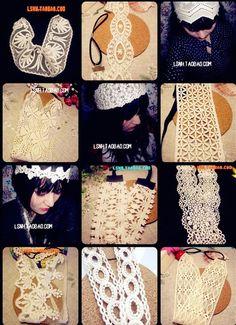 Korean style Beige flower lace headband hair band elastic headbands head bands hair accessories for women girls children baby