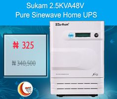 Biggest #Sale at Blessing Computers Limited Get 100% #OFF on Sukam 2.5KVA48V Pure Sinewave #HomeUPS. Order Now!! http://www.blessingcomputers.com/products/MAOV9FWKBP-Sukam-2.5KVA48V-Pure-Sinewave-Home-UPS.html