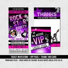 Concert Ticket Invitation Template Entrancing Fiesta Ticket Invitation Birthday Party  Any Age  Print Your Own .