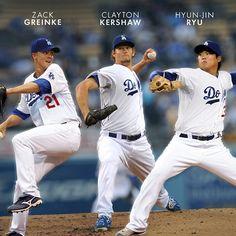 Zack Greinke. Clayton Kershaw. Hyun-Jin Ryu.