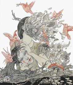 Ceren Aksungur #ink #drawing #lowbrow #popsurrealism #surrealism #illustration
