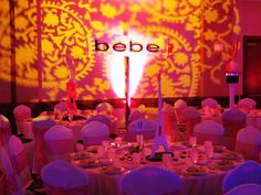 Paris Themed Event Gobo projection