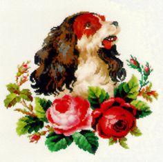 European Victorian Berlin Woolwork Cross by BissonetteDryGoods, $6.00