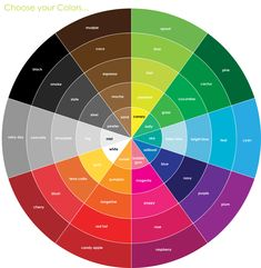 Color wheel. To figure out what color goes with what...