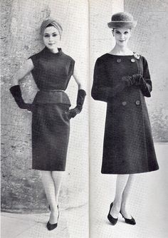 Models by Givenchy.Vogue  1960.